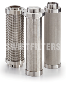 wedge wire high pressure filter housing